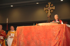 Bishop Barbara C. Harris preaches at Integrity-sponsored Eucharist.