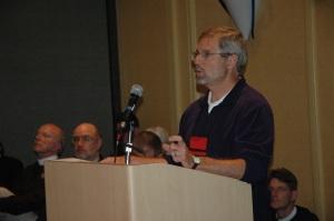 Ian Douglas testifies for MDGs funding